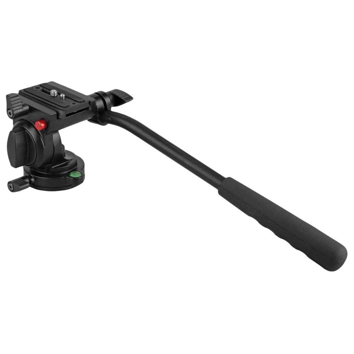 KINGJOY KH-6750 Flexible Trépied D'appareil Photo En Aluminium Tête Vidéo Fluide Trépied Tête d'impression pour Canon, nikon et Autres Caméras DSLR avec 1/4