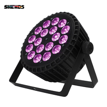 10pcs/lot Aluminum Alloy LED Flat Par 18x18W RGBWA UV Light DMX 512 Stage Lighting Good For DJ Disco Party Nightclub Dance Floor