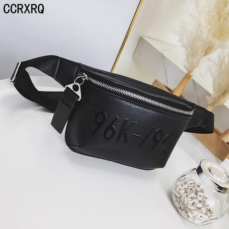 CCRXRQ Waist Bags For Women 2019 New Brand Black PU Leather Waist Pack Fashion Lady Fanny Pack Handy Belt Bag Female Chest Bag