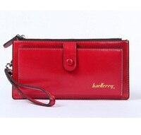 Ladies Women Wallets Genuine Leather Purses Long Wallet Women Elegant Female Red Women S Wallets Woman