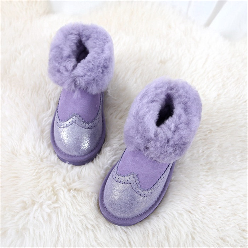 Cuwhf Mini Snow Shoes Women Boots Real Leather Women Winter Boots Warm 100%Natural Snow Boots Fashion Shoes цены
