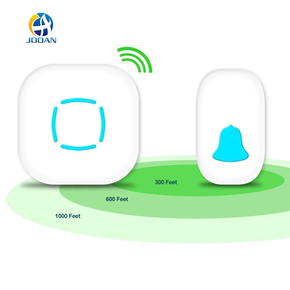 JOOAN Sans Fil Sonnette Premium Portable Plug-in Type Étanche Kit Avec 36 Carillons Sans Fil Intelligent Porte Cloches