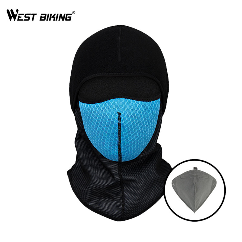 WEST BIKING Winter Cycling Mask Windproof Balaclava Fleece Hood Anti-dust Neck Warmer Thermal Snowboard Ski Cycling Face Mask new winter warm scarf hat mens thermal fleece hood ski bike hiking unisex winter windproof face mask beanie caps mens