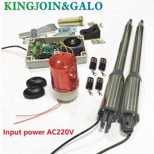 Image 1 - Электрические ворота/электрические распашные ворота, 300 кг, двигатель распашных ворот с 4 дистанционным управлением, 1 пара фотоячеек, 1 светильник сигнализации