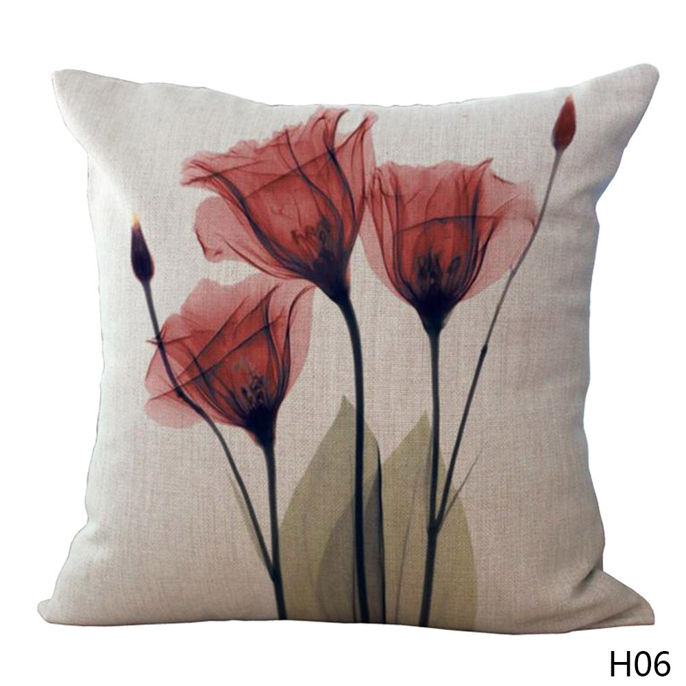 Rosa Kissenbezug 3d Stereo Aquarell Blume Beige Kissenbezug 8 Stil Lila Blau Gelb Rosa Kissenbezug 45x45 Cm 95g Schlafzimmer Sofa Dekoration In 3d Stereo Aquarell
