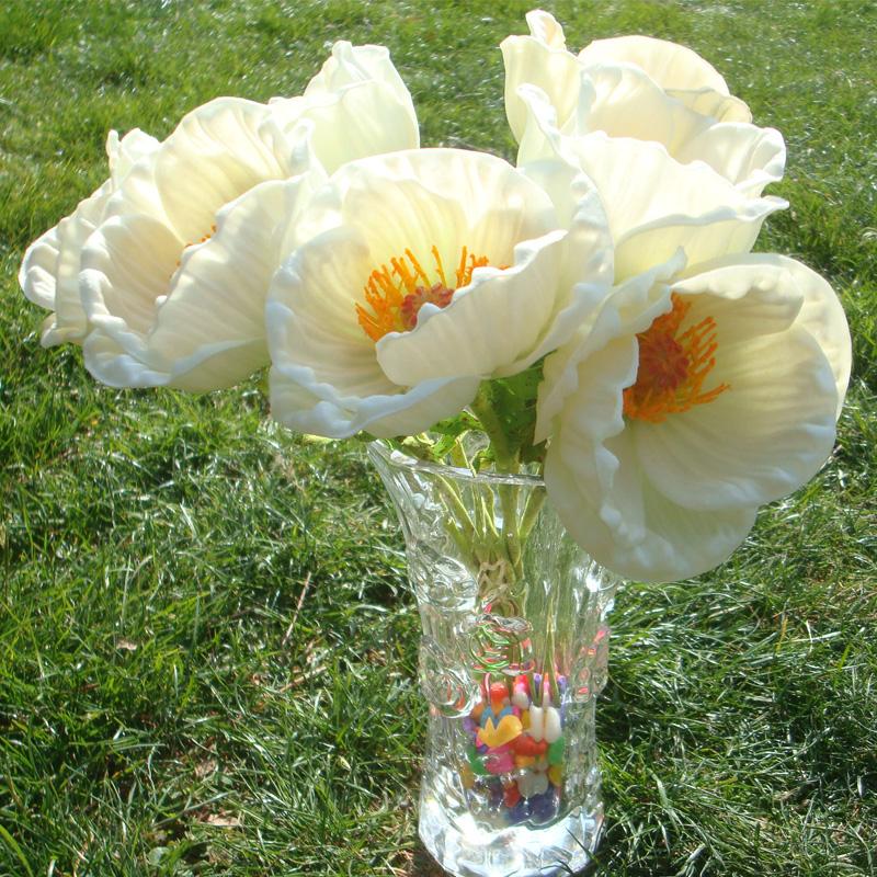 venta caliente nupcial ramo de flores para la decoracin de la boda pantalla x amapola flor