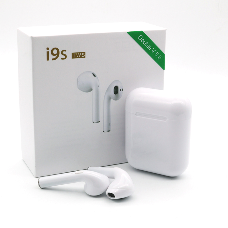 Original Mini I9S 5,0 TWS Drahtlose Bluetooth Kopfhörer Ohrhörer Mit Mic Nicht Kopfhörer luft pods Für Iphone Samsung Android xiaomi