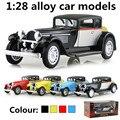 1:28 modelos de carros de liga, de alta simulação Bugatti carros clássicos, metal diecasts, toy vehicles, pull back & piscando & musical, frete grátis