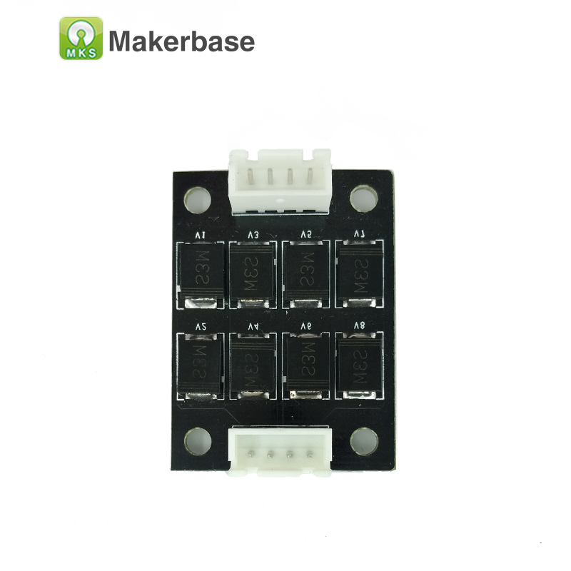 5pcs MKS Smoother module 3d printer components diode board stepstick filter for stepper driver motor  stepping smoother5pcs MKS Smoother module 3d printer components diode board stepstick filter for stepper driver motor  stepping smoother