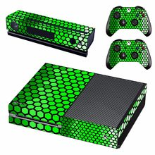 New green Honeycomb grid Decal Skin Sticker For Xbox one Console protection film +2Pcs Controller skin(China)