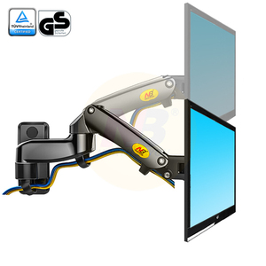 "Image 3 - NB F150 Aluminum Alloy 360 Degree 17"" 27"" Monitor Holder Gas Spring Arm LED LCD TV Wall Mount Loading 2 7kgs"