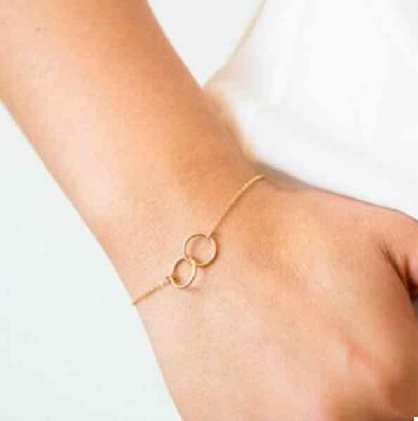 La295 металлического сплава браслет из золота и серебра круглые браслеты Открытый круг Браслеты женский Шарм ювелирные изделия 2018 горячая распродажа
