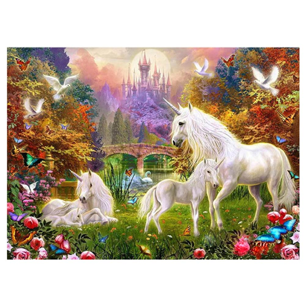 DIY Diamond Painting Cross Stitch Horse Flower Butterfly Mosaic Pasted Embroidery Crystal Painting Drawing Craft 40x30cm Hot Sal