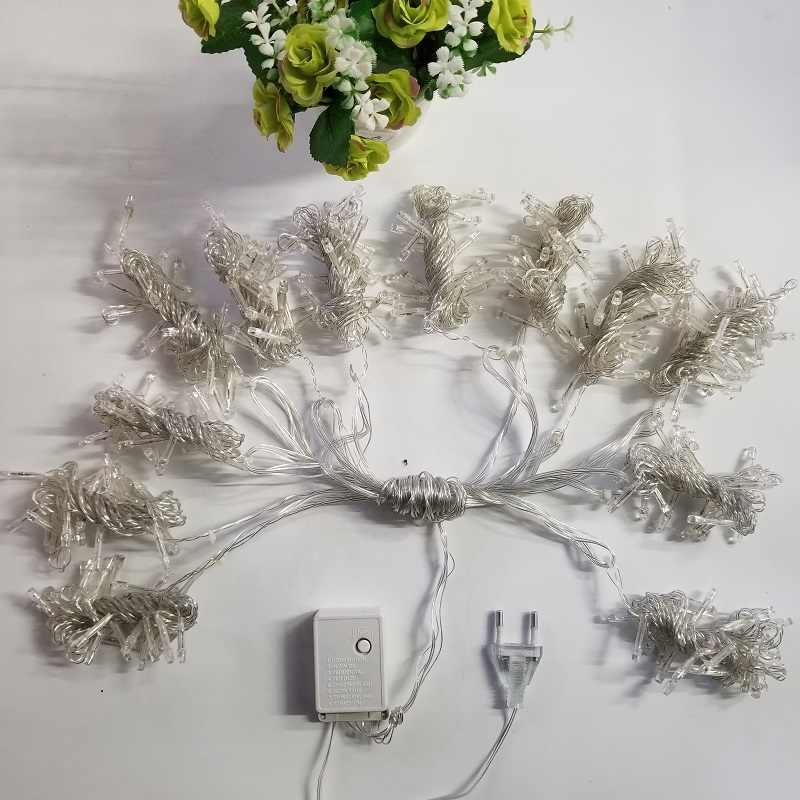 1 & 4,5 м X 3 м 300 светодиодов ЕС вилка 220 В Фея светодиодная гирлянда для рождественской вечеринки гирлянда украшения для свадебного занавеса мерцающие огни