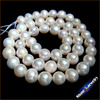 8 9mm Round Natural Pearls Loose Freshwater Pearls Strands Long 15 For Women Pearl Necklace Bridal