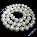 "8-9mm Round Natural Pearls Loose Freshwater Pearls Strands Long 15"" for Women Pearl Necklace & Bridal Jewelry Making BZ17"