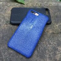 Stock Genuine Water Stingray Skin For Apple Iphone 6 6s 7 Plus 4 7 5 5