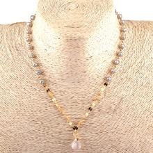Модные богемные ювелирные украшения в этническом стиле 6 мм бисер из стеклянных кристаллов звено Подвески Ожерелья