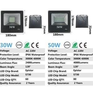 Image 4 - Светодиодный прожектор CHENGYILT, 30 Вт, 50 Вт, 100 Вт, 200 Вт, ac220в, водонепроницаемый IP66 Точечный светильник, уличный садовый светильник, светодиодный прожектор
