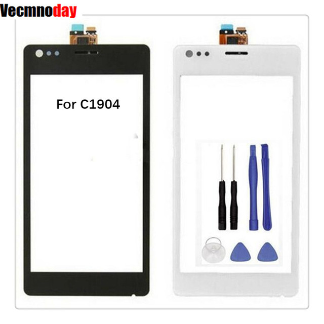 Vecmnoday 4.0inch Front Panel Touch Screen Digitizer For Sony Xperia M C1904 C1905 C2004 C2005 Not LCD Display +Free Tools