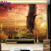 Beibehang Papel De Parede 3d Fairy Tale Fairyland Dream Forest Children Room Background Wall Wallpaper For