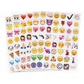 19 Folhas Emoji Sorriso Bonito da Cara Adesivos Emoticon Conjunto Emoji Sorriso Face Dos Desenhos Animados Adesivos Decorativos Para Notebook Laptop Mensagem