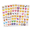 19 Sheets Smile Cute Face Emoji Stickers Emoji Set Cartoon Smile Face Stickers Decorative Emoticon For Laptop Notebook Message