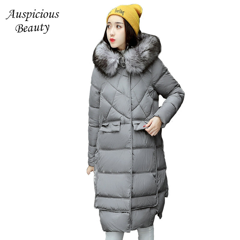 Winter Jacket 2017 Fashion Cotton-padded Overcoat Thicken Warm Hooded Outerwear Long sleeve Fur collar Women Parkas TSL201 women parkas 2016 fashion ladies big fur hooded slim thicken outerwear winter coats women cotton padded warm overcoat a4507