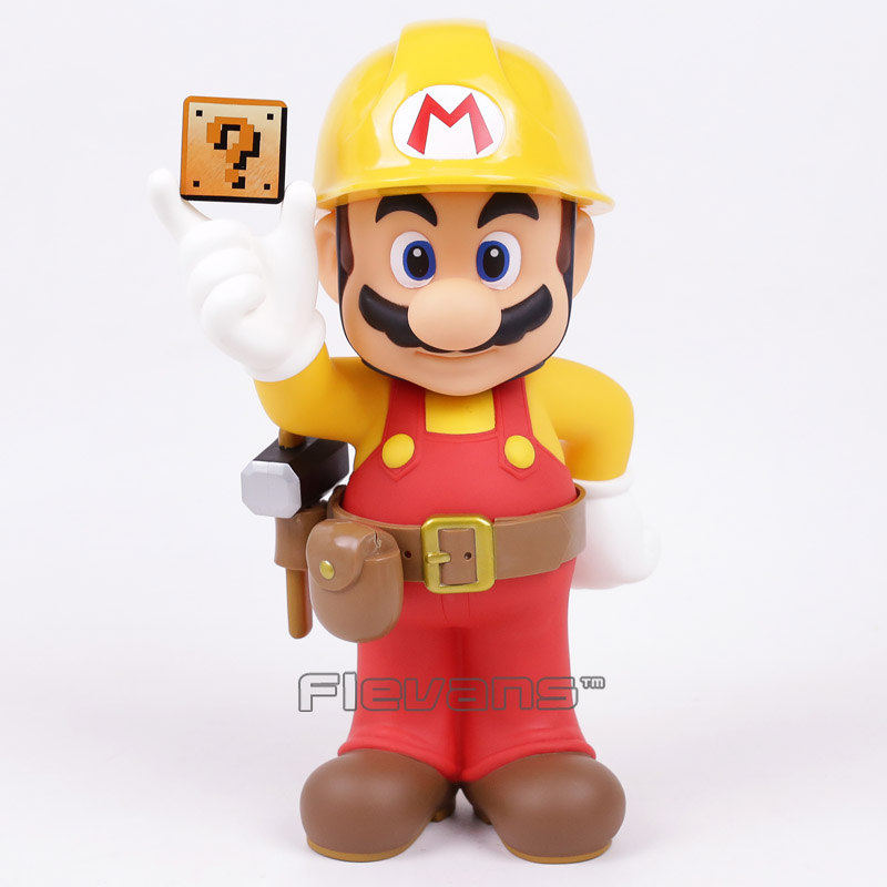Super Mario Brothers Maker 30th Anniversary PVC Action Figure Collectible Model Toy 12inch 30cm 5pcs set super mario bros pvc toy figure mario luigi action figure
