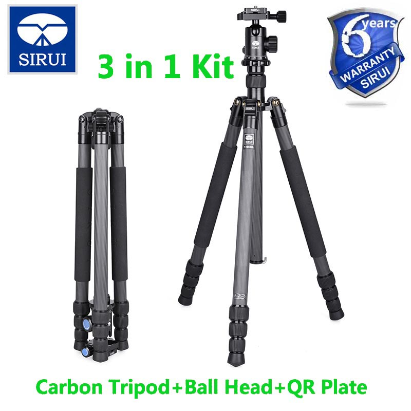 Sirui Tripod For SLR Camera Mount+Ball Head For Travel Digital Camera Leg DSLR Stand Light Weight 3KG Holder T-1204XL+E10 штатив sirui t 005kx c 10s