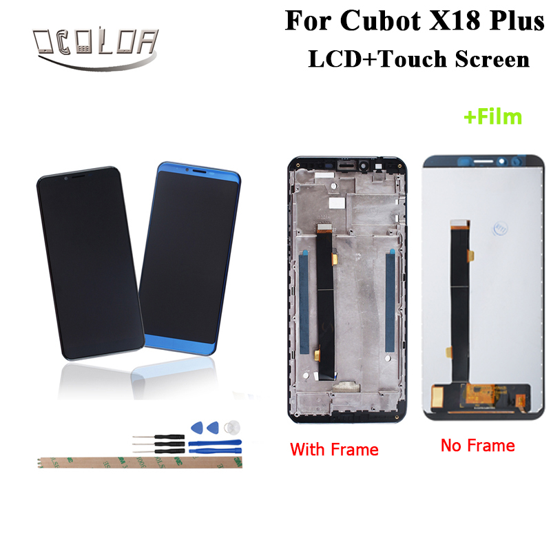 ocolor For Cubot X18 Plus LCD Display and Touch Screen With Frame Tools Film 5 99