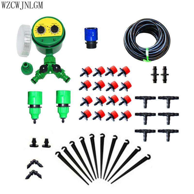 Garden irrigation system DIY25m automatic watering system with With adjustable drip irrigation assembly 1set