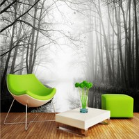 Free Shipping Art Forest TV Wall Mural Bathroom Bedroom Home Decoration Wallpaper Mural Living Room Coffee