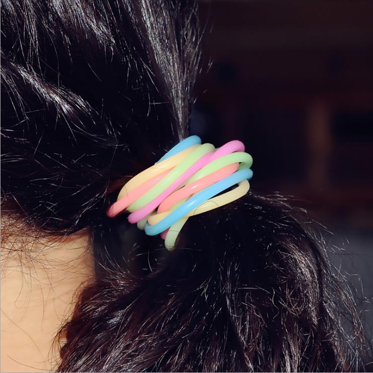 Colorful Fluorescence Silicone Rubber Bands Fashion Women