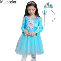 New Custom Anna Elsa Cô Gái Công Chúa Áo Trẻ Em Đảng Vestidos Bé Trẻ Em Cosplay Dresses Đặc Biệt Với Sự Kiện Cloak Dresses