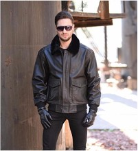 Free Shipping.DHL Brand winter warm leather jacket.plus Size motorcycle jackets,mens genuine cow leather coat.Cool,thick