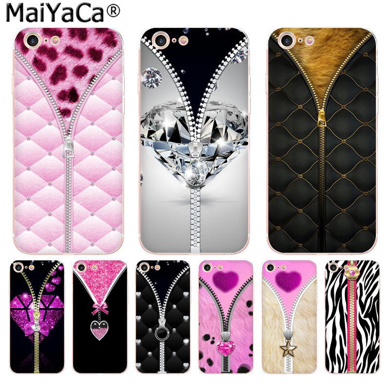 US $0 66 67% OFF|MaiYaCa Pink leopard print zipper High Quality phone  Accessories cover for iPhone 8 7 6 6S Plus X 10 5 5S SE XR XS XS MAX  cover-in