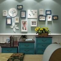 غرفة المعيشة الجدار شنقا إطار الصورة خشبي إطار الصورة الشمال تأثيث غرفة نوم جدارية تصميم