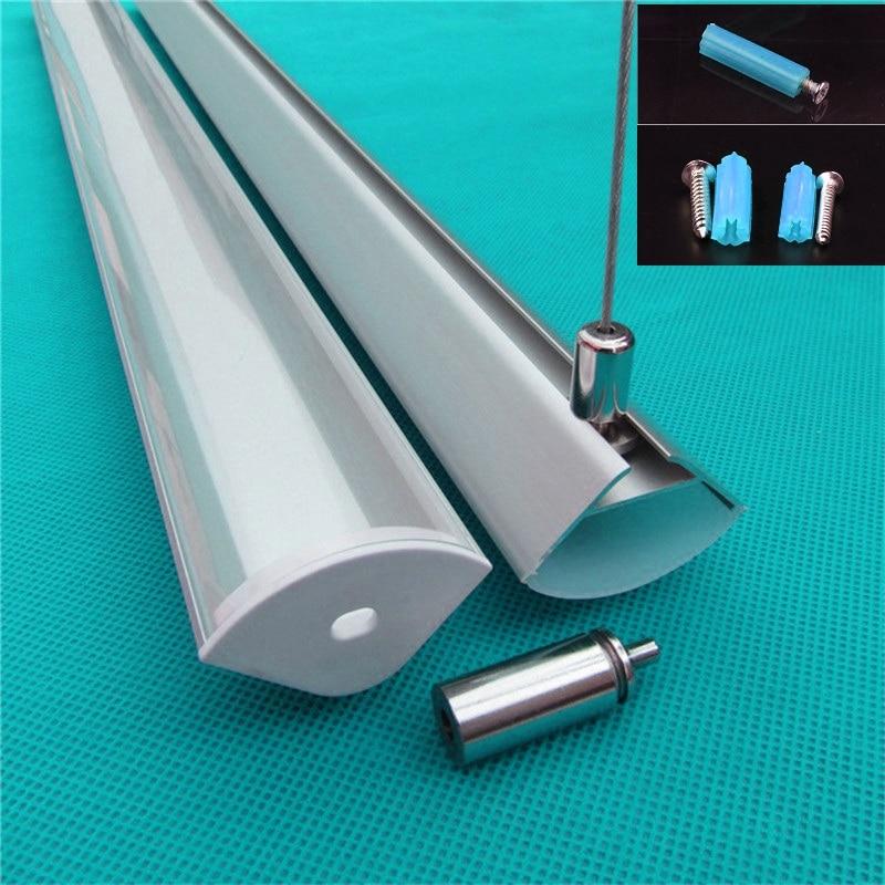 10pcs lot 40inch 1m led bar light 20mm 45degree double row aluminium profile matte clear cover