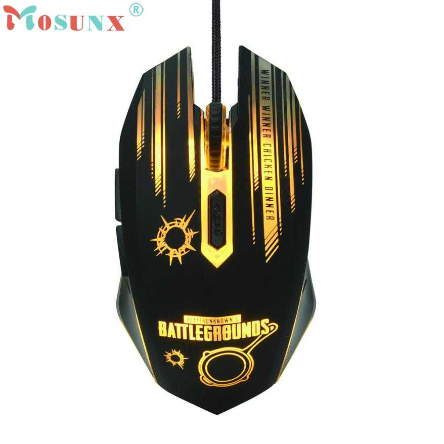 Mouse Raton Professional 3200DPI LED Optical 6D USB Wired Gaming Game Mouse Rechargeable computer mouse 18Aug3