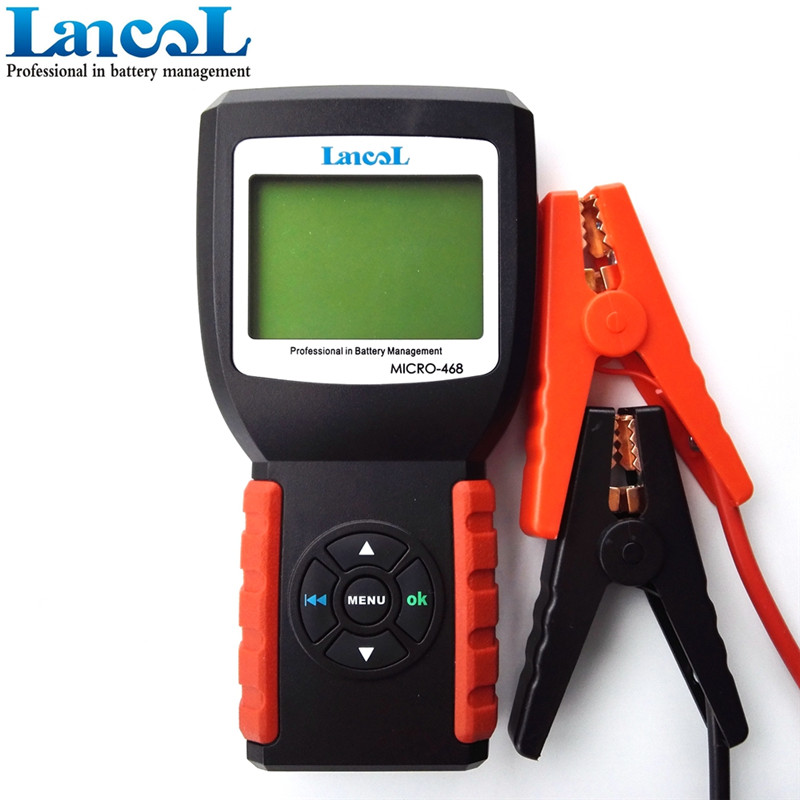 Hot Sale Truck Car  Battery Tester Resistance  12v Alternator Tester With Lcd Backlight Micro-468 Car Diagnostic Tool