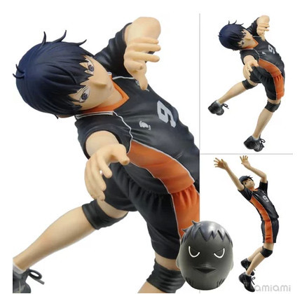 Hot Anime Cartoon Haikyuu!! 17CM kageyama Tobio PVC Action Figures Model Toy Christmas Gift цена