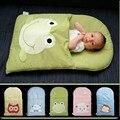 Sapo bebê recém-nascido saco de dormir saco de dormir inverno carrinho de criança cama cama bonito do bebê saco de dormir swaddle cobertor envoltório
