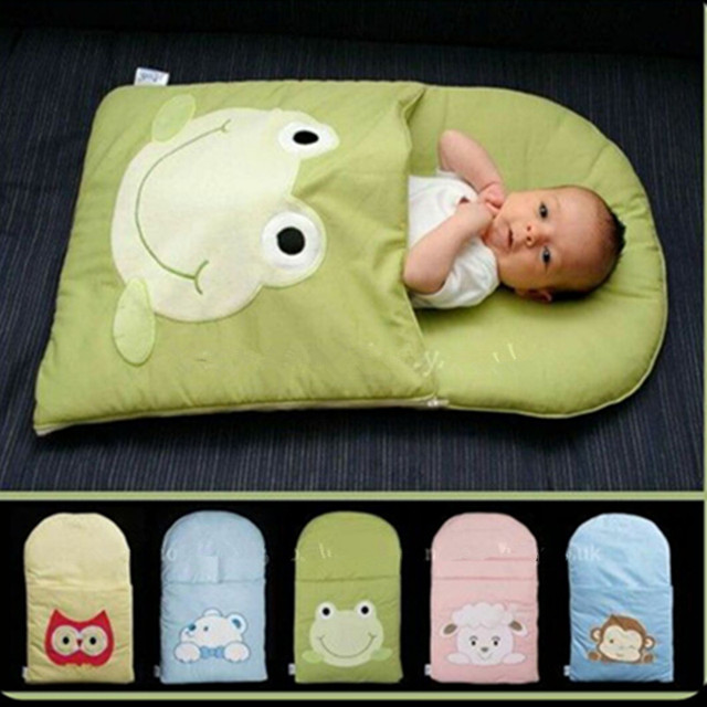 frog newborn sleeping bag sleeping bag winter stroller bed swaddle blanket wrap bedding cute baby sleeping bag
