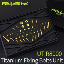 Bicycle-Screws RISK Titanium R8000 Bolts-Sets for Bike-Derailleur-System UT 49pcs/Set