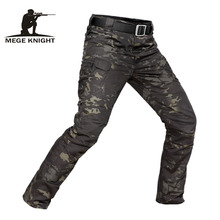 MEGE Brand Tactical Camouflage Military Casual Combat Cargo Pants Water Repellent Ripstop Mens 5XL Trousers  Spring Autumn
