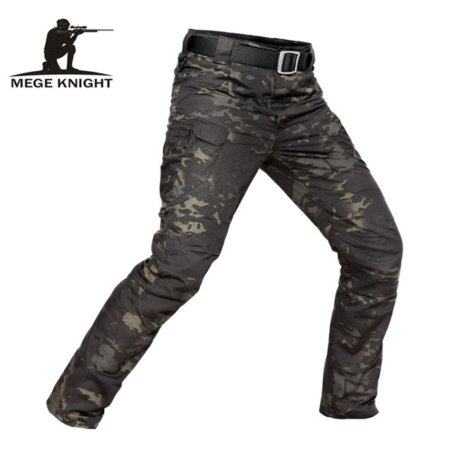 MEGE Marca Tactical Camuflagem Militar Ocasional dos homens Carga Calças De Combate Ripstop Repelente de Água 5XL Calças Primavera Outono