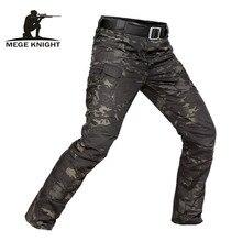 Mege calças masculinas, camuflagem militar tática, casual, combate, repelente à água, primavera, outono, masculina 5xl