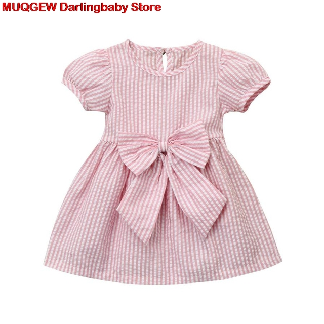 e48deee4b 2018 Brand Fashion Infant Children Baby Dress Kids Clothes Striped ...