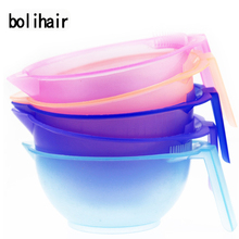 New 5 Color Professinal Salon Hair Color Bowl Mixing Bowls Tint Tool Set Barber Hairdressing Dye Hair Care Styling Tools Plastic